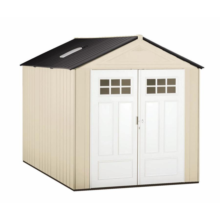 Shop rubbermaid storage shed common 7 ft x 10 ft actual for Garden shed 10x10