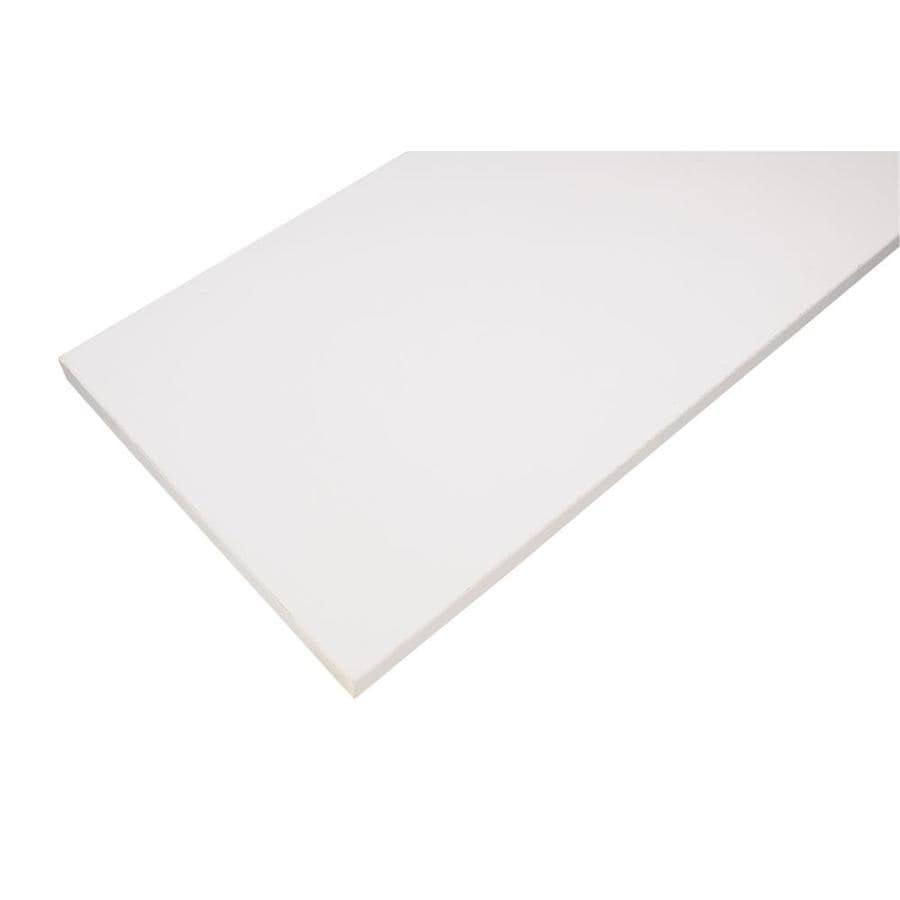 Rubbermaid Laminate 7.8-in W x 35.8-in L x 0.625-in D White Shelf Board