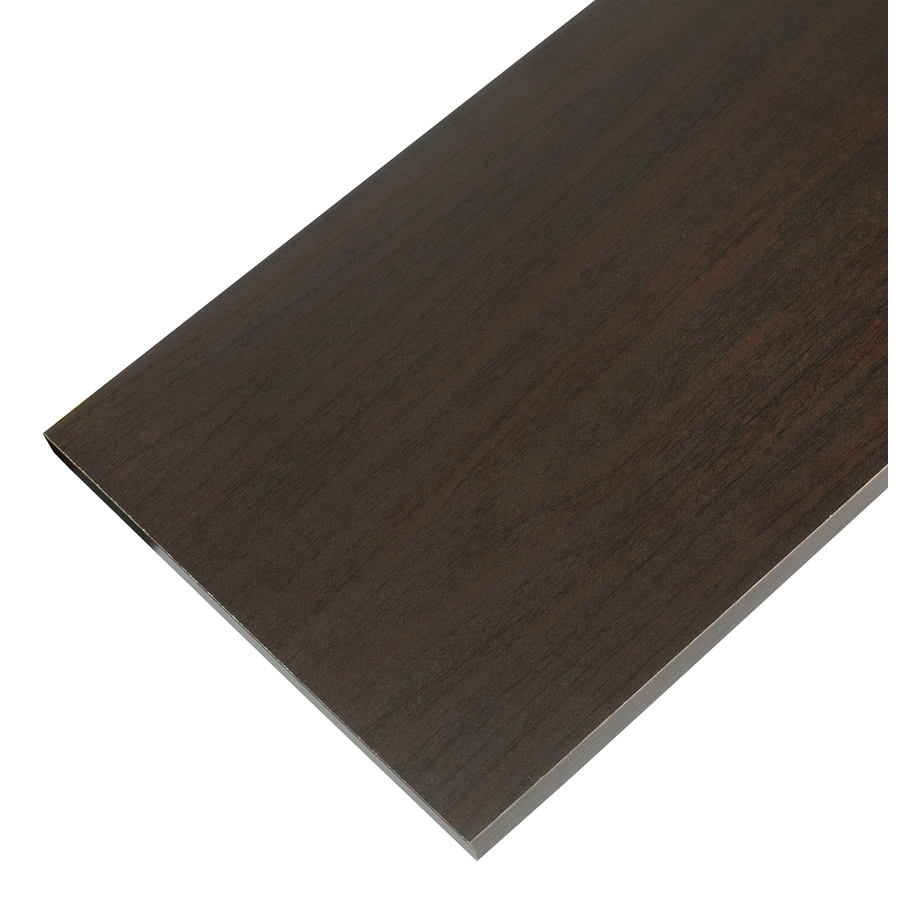 Rubbermaid Laminate 0.625-in D x 23.8-in L x 9.8-in W Espresso Shelf Board