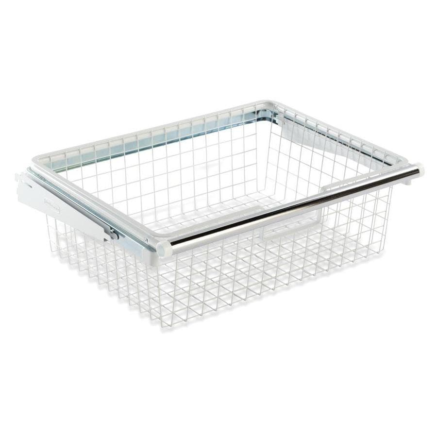 Rubbermaid FastTrack White Wire Sliding Basket