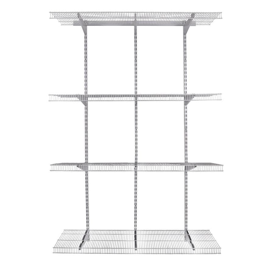 Rubbermaid FastTrack Pantry 4-ft to 4-ft Satin Nickel Adjustable Mount Wire Shelving Kits