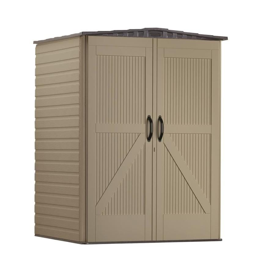 Shop rubbermaid roughneck storage shed common 5 ft x 4 for Garden shed 5 x 4