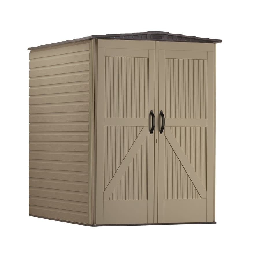Shop rubbermaid roughneck storage shed common 5 ft x 6 for Garden shed 5 x 4