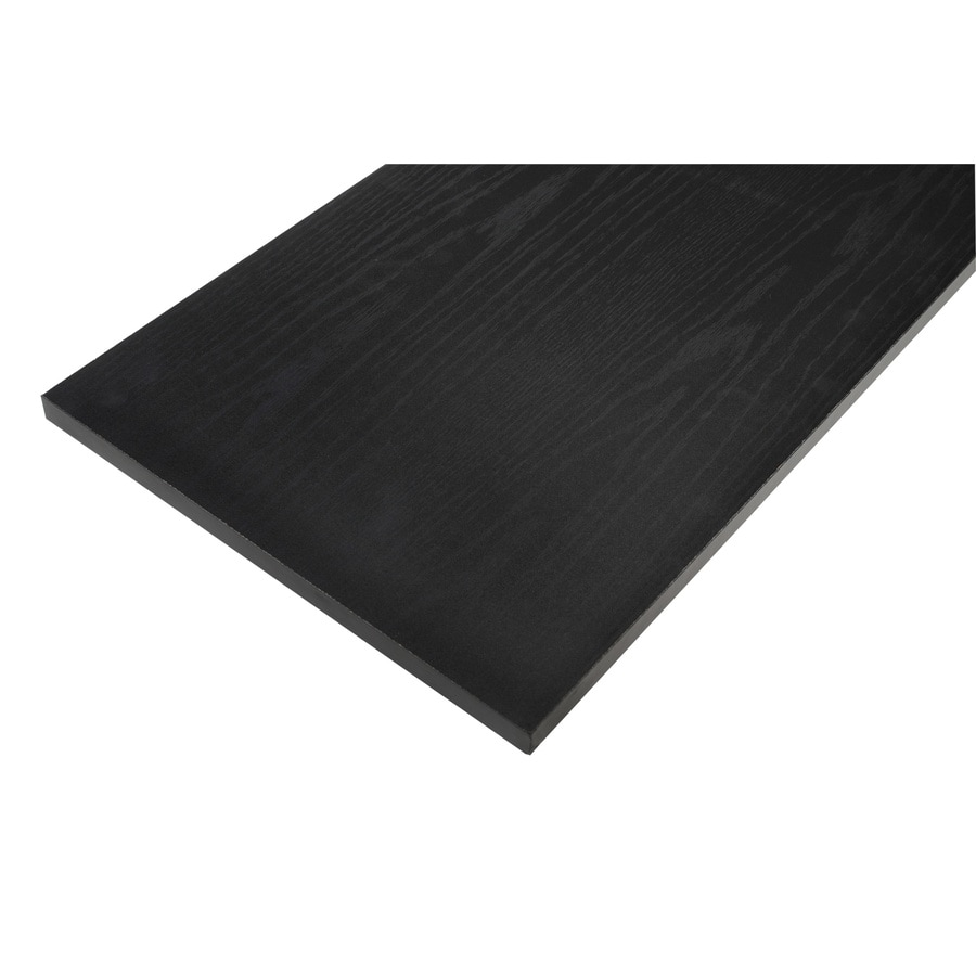 Rubbermaid Laminate 0.625-in D x 71.8-in L x 11.8-in W Black Oak Shelf Board