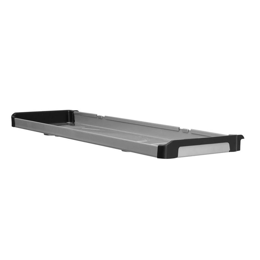 Rubbermaid Fasttrack Garage 1-Piece Gray/Black Steel Shelf
