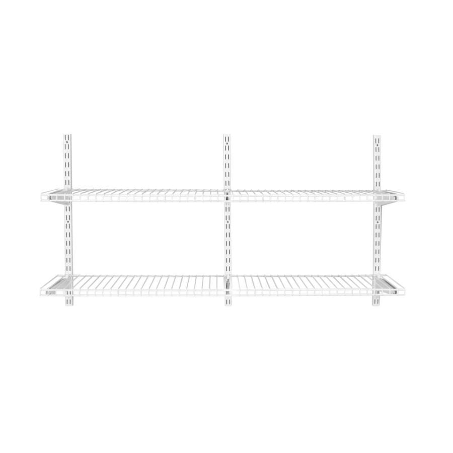 Rubbermaid HomeFree 4-ft to 8-ft White Adjustable Mount Wire Shelving Kits