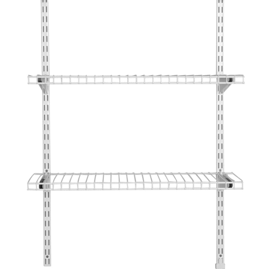 Rubbermaid HomeFree White Wire Add-On 2-Shelf Kit