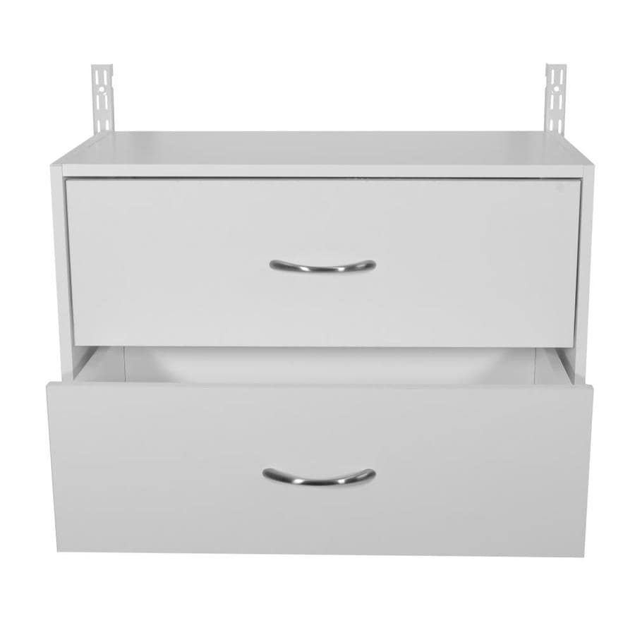 Shop Rubbermaid HomeFree White Wood 2-Drawer Unit at Lowes.com