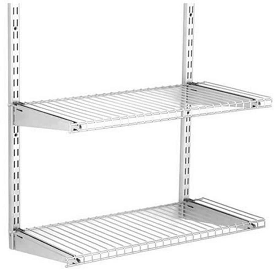 Shop Rubbermaid HomeFree Satin Nickel Wire Add-On 2-Shelf Kit at ...