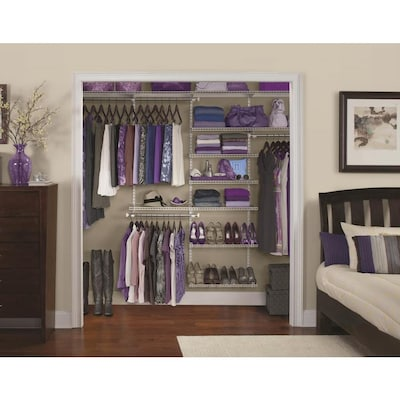 Homefree Series 6 Ft To 10 X 12 In White Wire Closet Kit