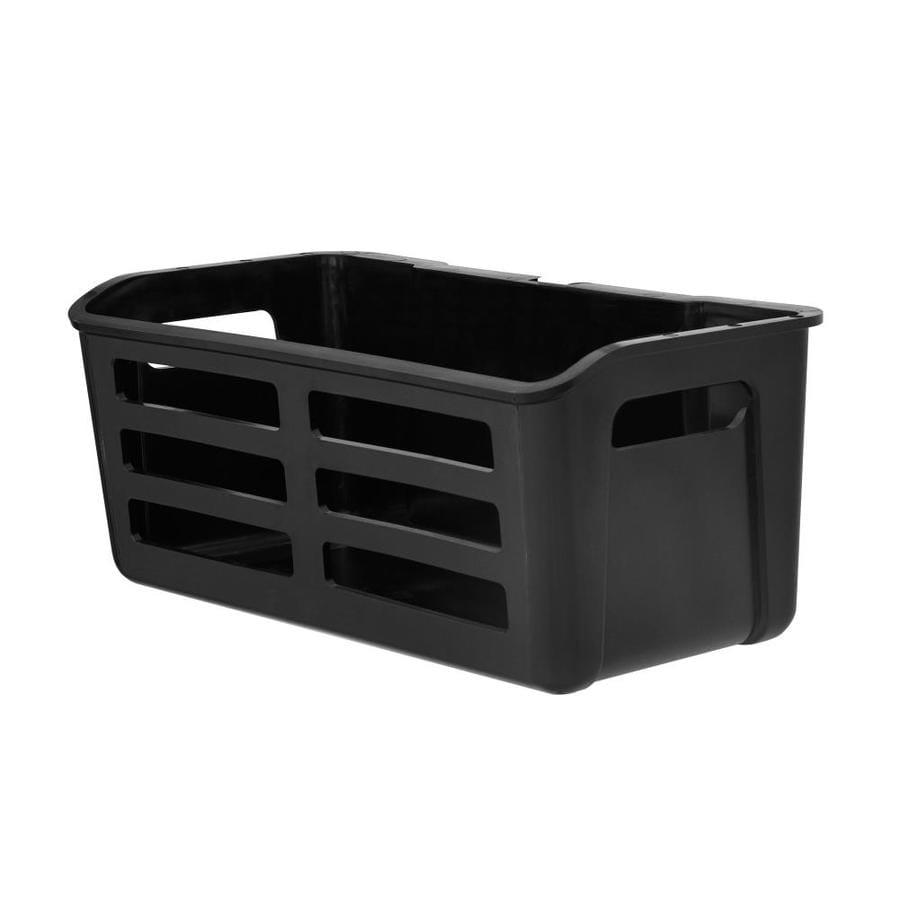 Rubbermaid Fasttrack Garage 1 Piece Black Plastic Utility Bin