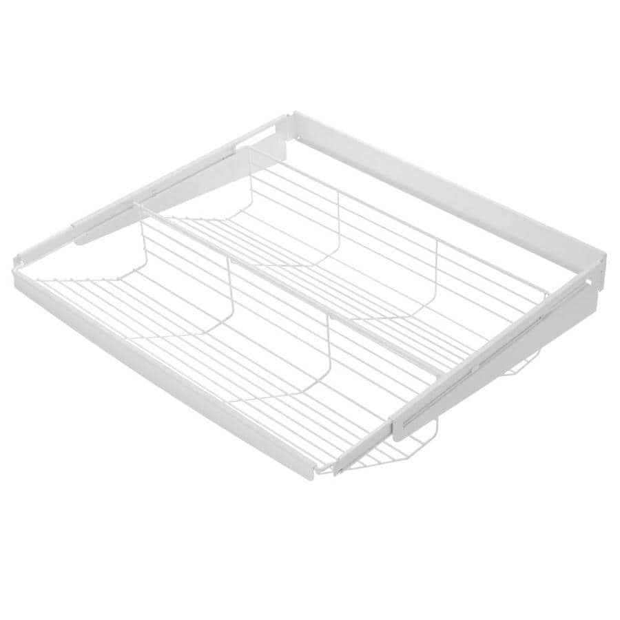 Shop Rubbermaid Fasttrack White Wire Sliding Tiered Shelf