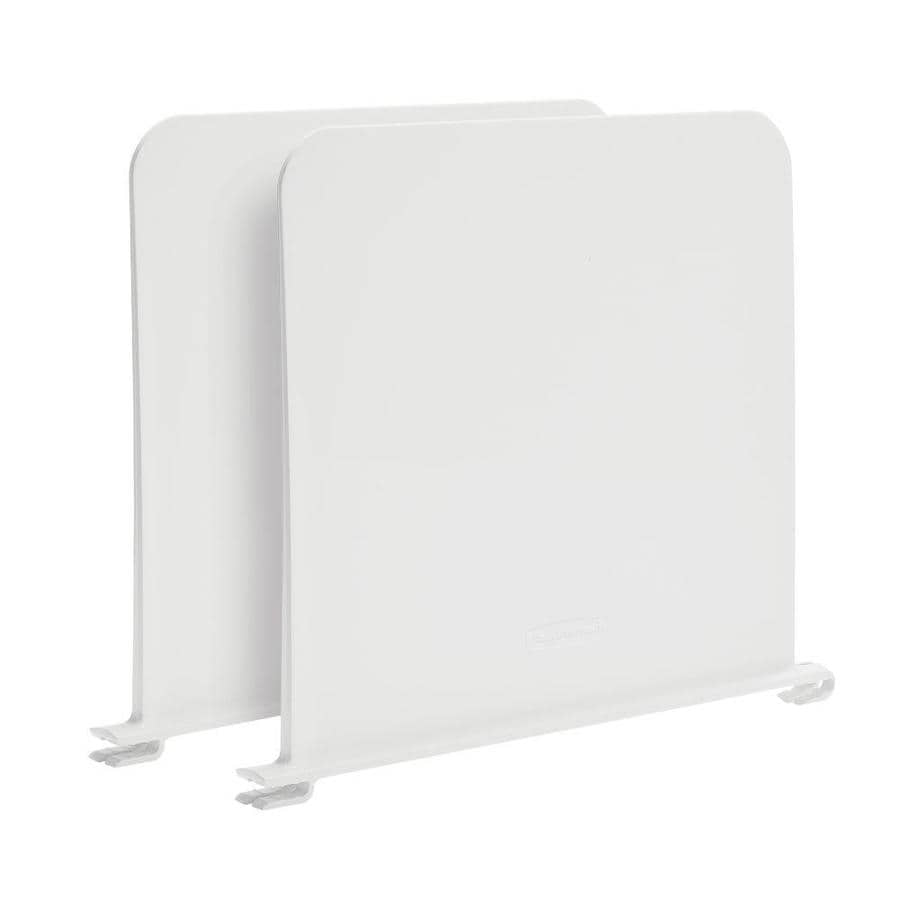 Rubbermaid FastTrack White 2-Pack Plastic Shelf Divider