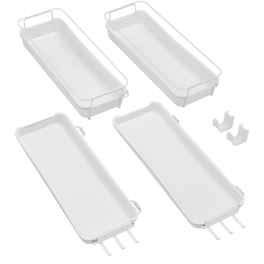 Rubbermaid FastTrack White Plastic Wardrobe Kit