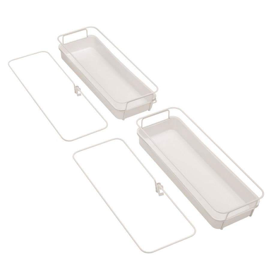 Rubbermaid FastTrack White Plastic Basket Organizer Kit