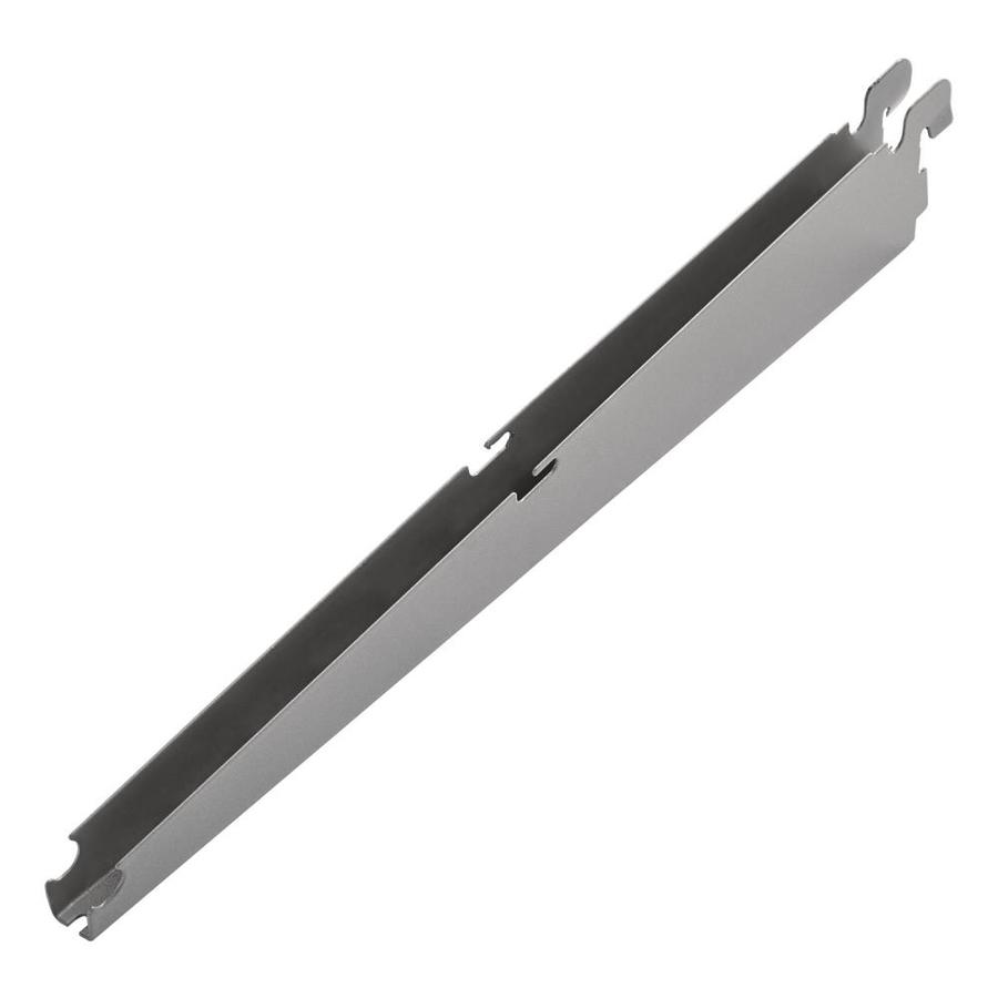 Rubbermaid FastTrack Satin Nickel Shelving Bracket (Common: 0.7-in x 2-in x 12-in; Actual: 0.7-in x 2-in x 12.9-in)