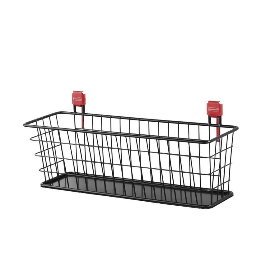 Rubbermaid Black Steel Storage Shed Wire Basket