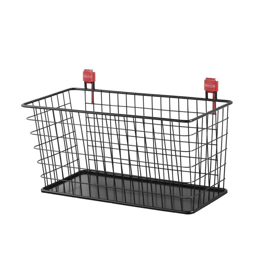 Rubbermaid Black Steel Storage Shed Wire Basket