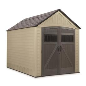 Rubbermaid (Common: 7-ft x 10-ft; Actual Interior Dimensions: 6.8-ft x 10.2-ft) Roughneck Storage Shed