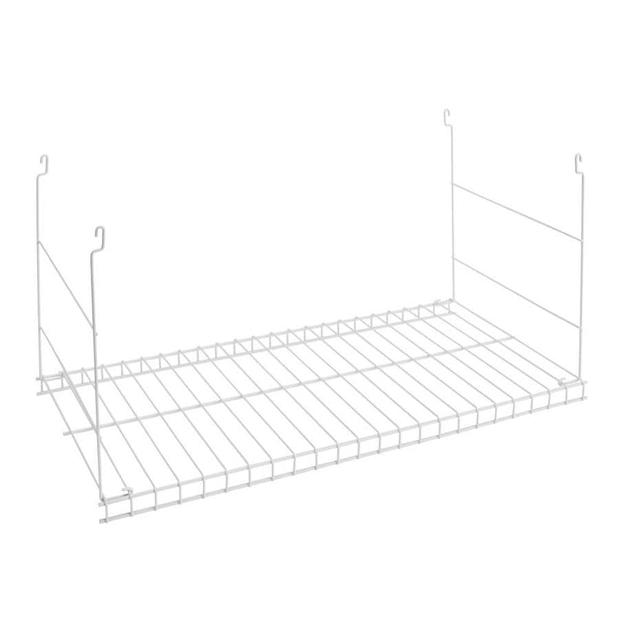 Shop Rubbermaid White Hanging Add-On Wire Shelf at Lowes.com
