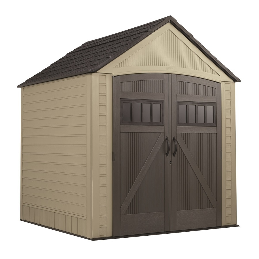 f39f18e4571d Rubbermaid (Common: 7-ft x 7-ft; Actual Interior Dimensions: 6.75-ft x  6.78-ft) Roughneck Storage Shed