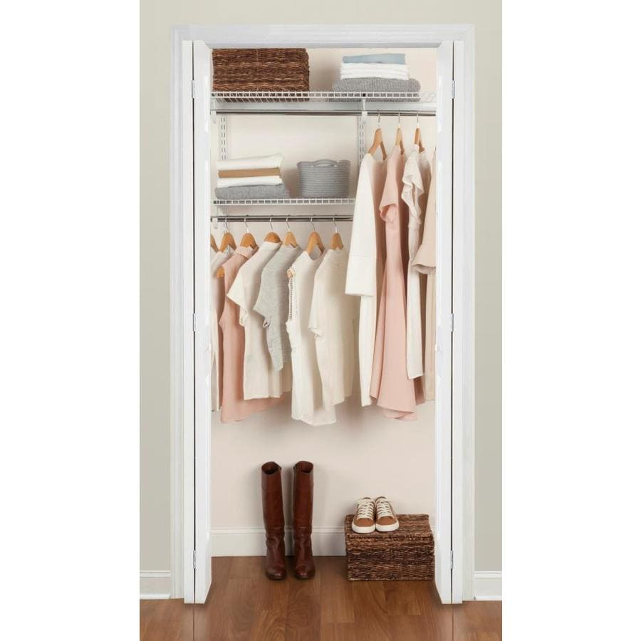 Rubbermaid Fasttrack 3 6 Ft Closet Kit White At Lowes Com
