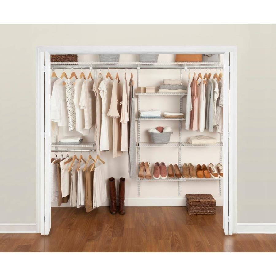 Rubbermaid FastTrack 6-10-ft Closet Kit White At Lowes.com