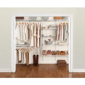 Rubbermaid Fasttrack 6 Ft To 10 X 12 In White Wire Closet