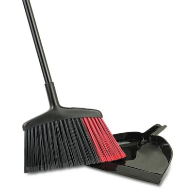 Libman 14-in Poly Fiber Upright Broom With Dustpan at Lowes com