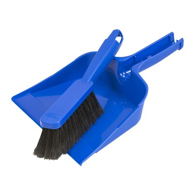 Quickie Plastic Handheld Dustpan With Brush At Lowes Com