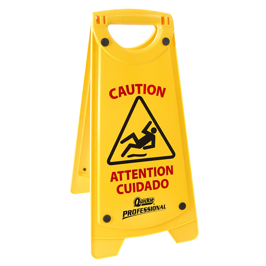 yellow vinyl ea handy floor jon sign fs wet don cone