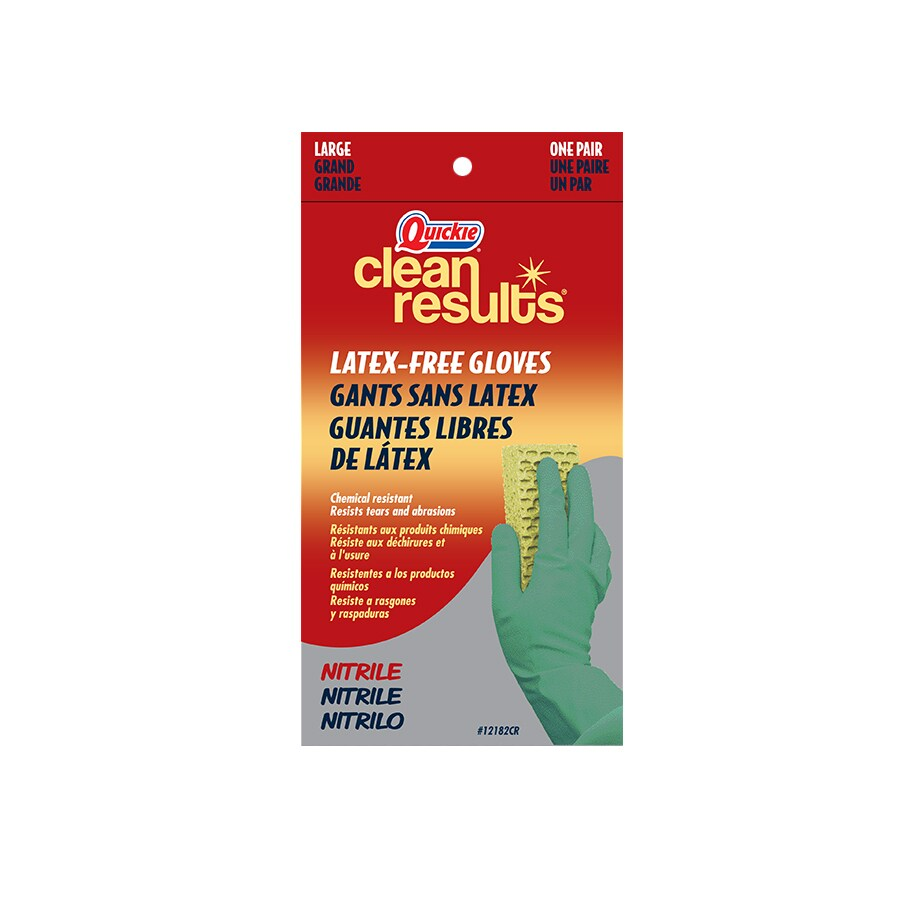Quickie - Clean Results Large Nitrile Cleaning Gloves