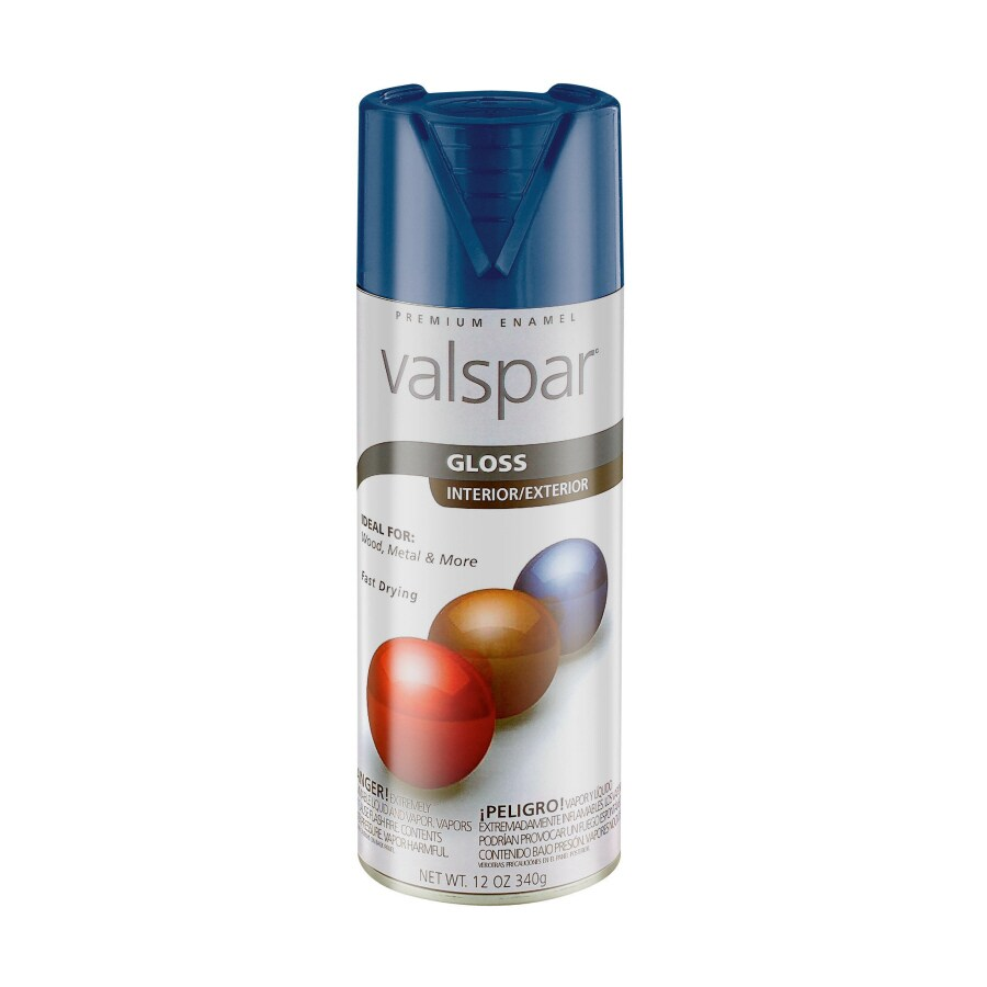 Valspar 12-oz Pewter Grey Gloss Spray Paint
