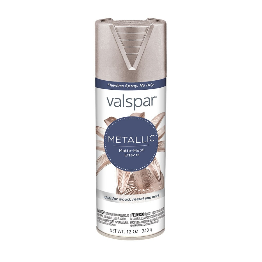 Shop Valspar Brushed Nickel Metallic Enamel Spray Paint Actual Net Contents 12 Oz At