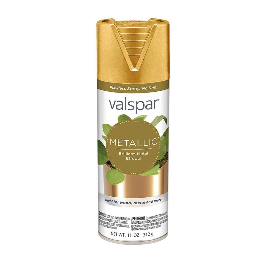 Shop Valspar Gold Metallic Enamel Spray Paint Actual Net Contents 11 Oz At Lowes Com
