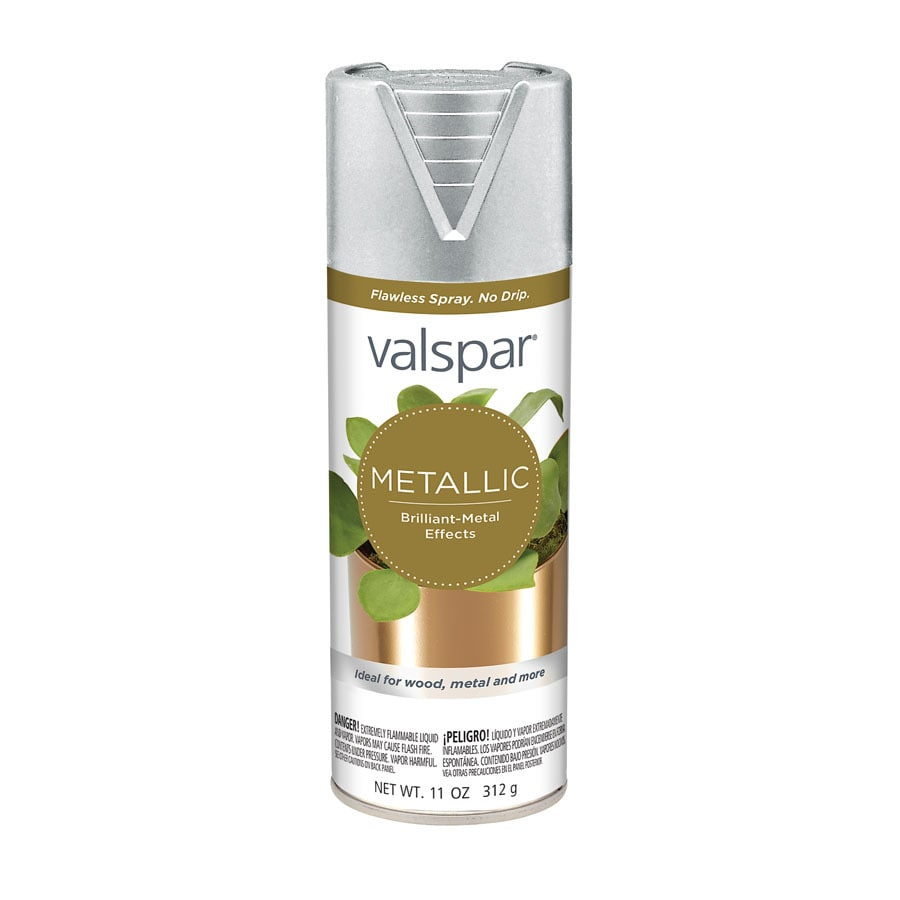 shop valspar silver metallic enamel spray paint actual net contents. Black Bedroom Furniture Sets. Home Design Ideas