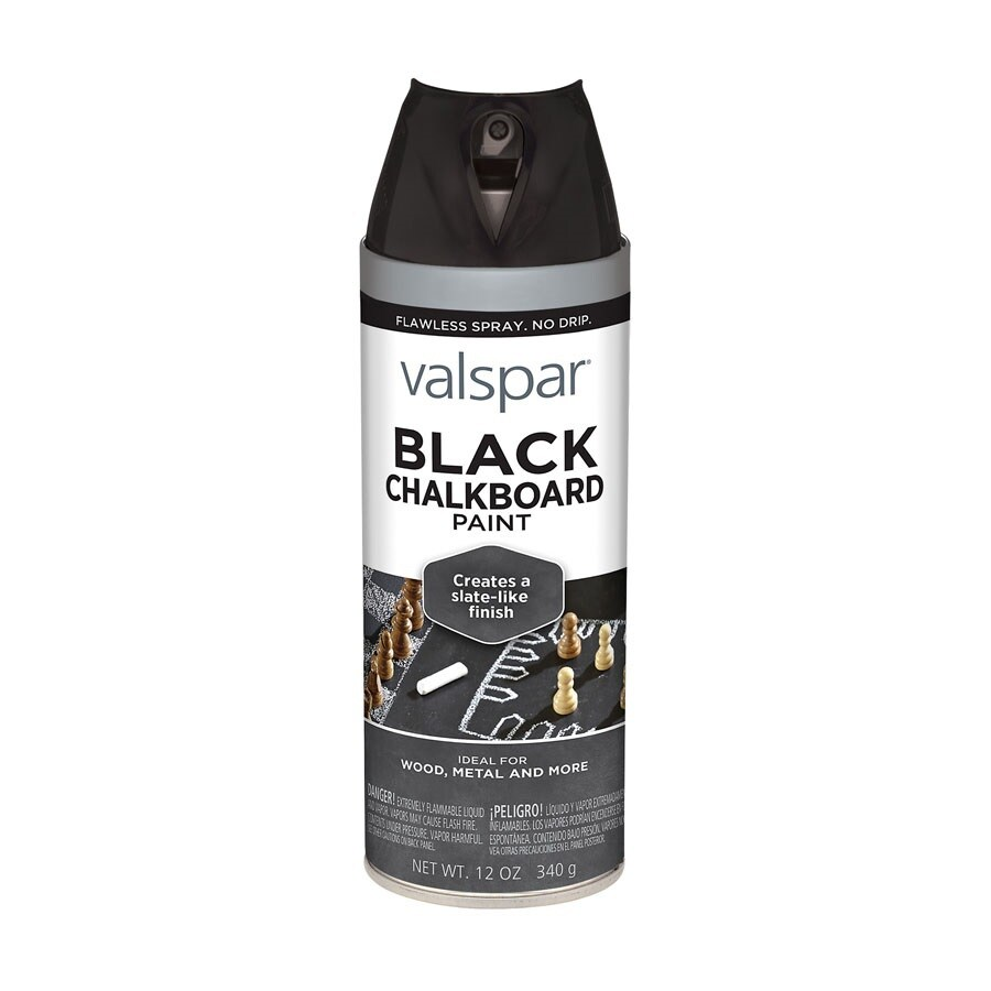Valspar Black Chalkboard Fade Resistant Enamel Spray Paint (Actual Net Contents: 12-oz)