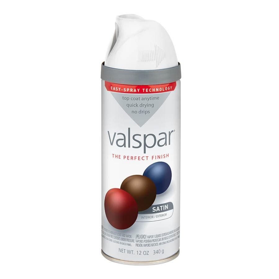 Lovely Satin White Spray Paint Part - 8: Valspar White Indoor/Outdoor Spray Paint