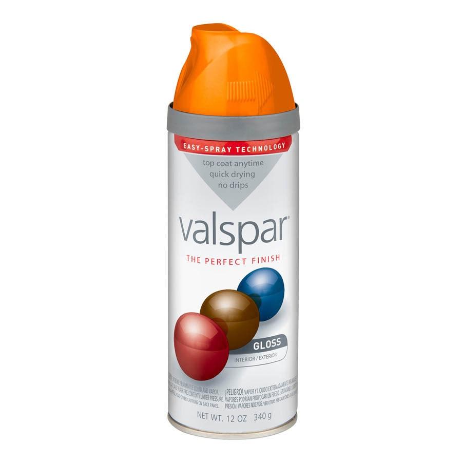 Valspar Island Orange Enamel Spray Paint Actual Net Contents 12 Oz