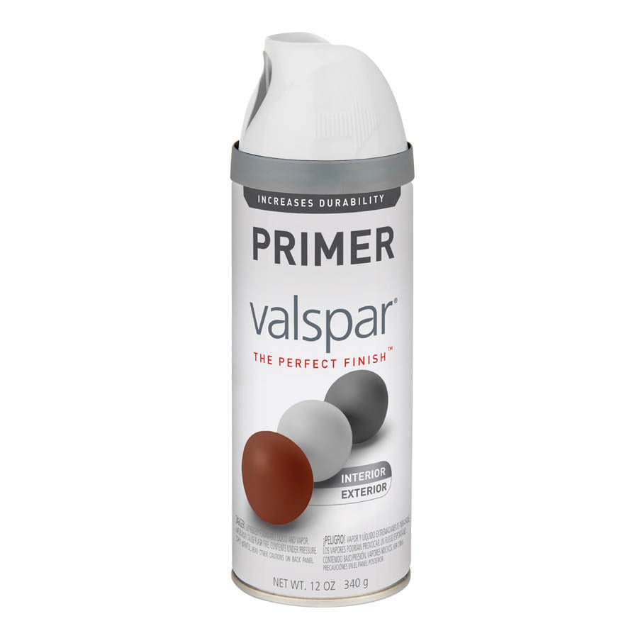 Valspar White Primer Spray Paint (Actual Net Contents: 12-oz)
