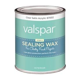 Valspar Clear Satin Acrylic Satin Acrylic Sealing Wax (Actual Net Contents: 16-fl oz)