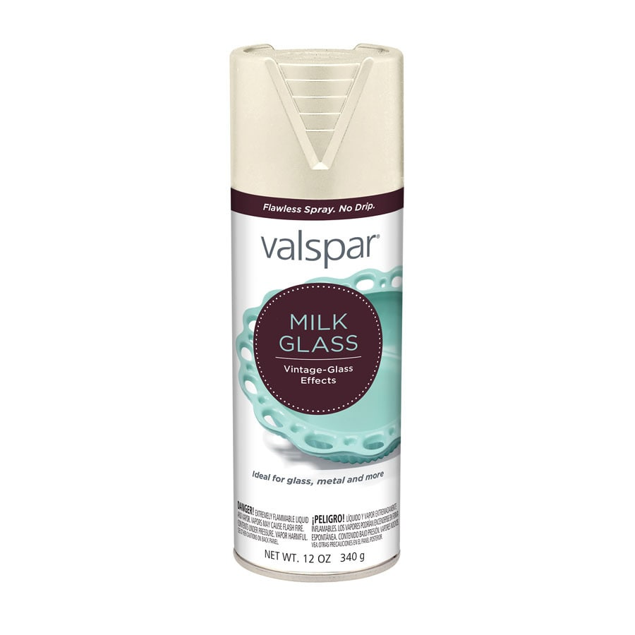 Shop Valspar Antique White Milk Glass Enamel Spray Paint Actual Net Contents 12 Oz At