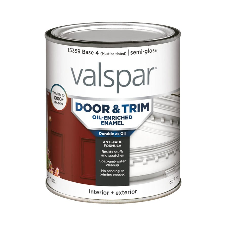 Shop Valspar Door And Trim Semi Gloss Oil Based Enamel Interior Exterior Paint Actual Net