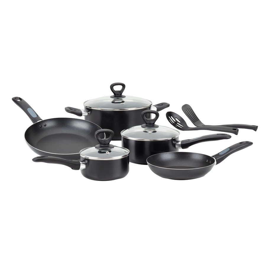 Mirro 10-Piece Get-A-Grip 24-in Aluminum Cookware Set with Lid