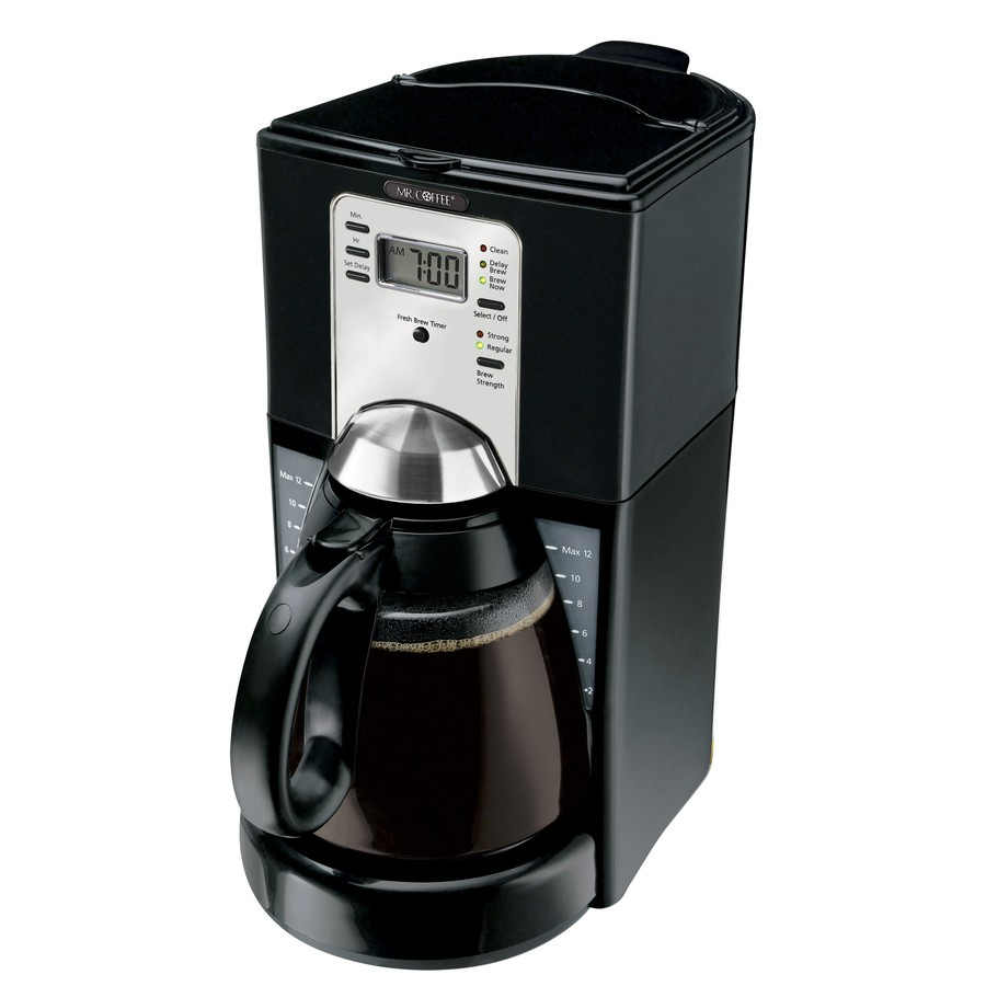 Mr. Coffee Black with Chrome Accents 12-Cup Programmable Coffee Maker