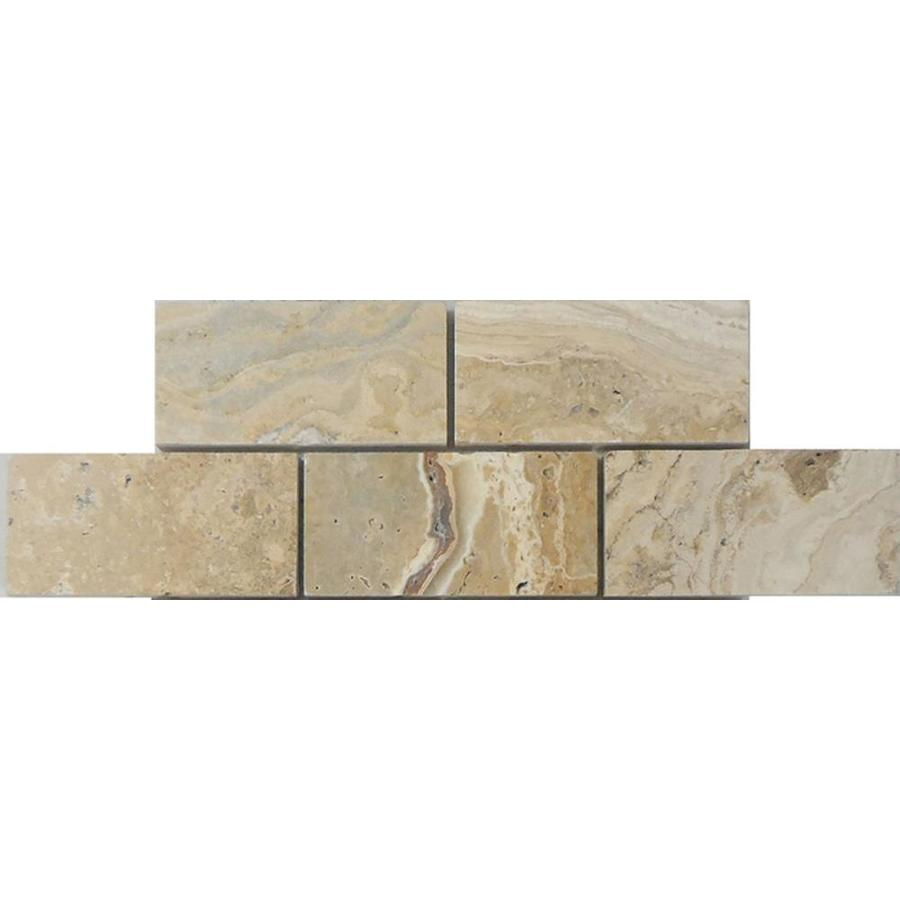 Avenzo A R Beige Brick Mosaic Travertine Tile Sample