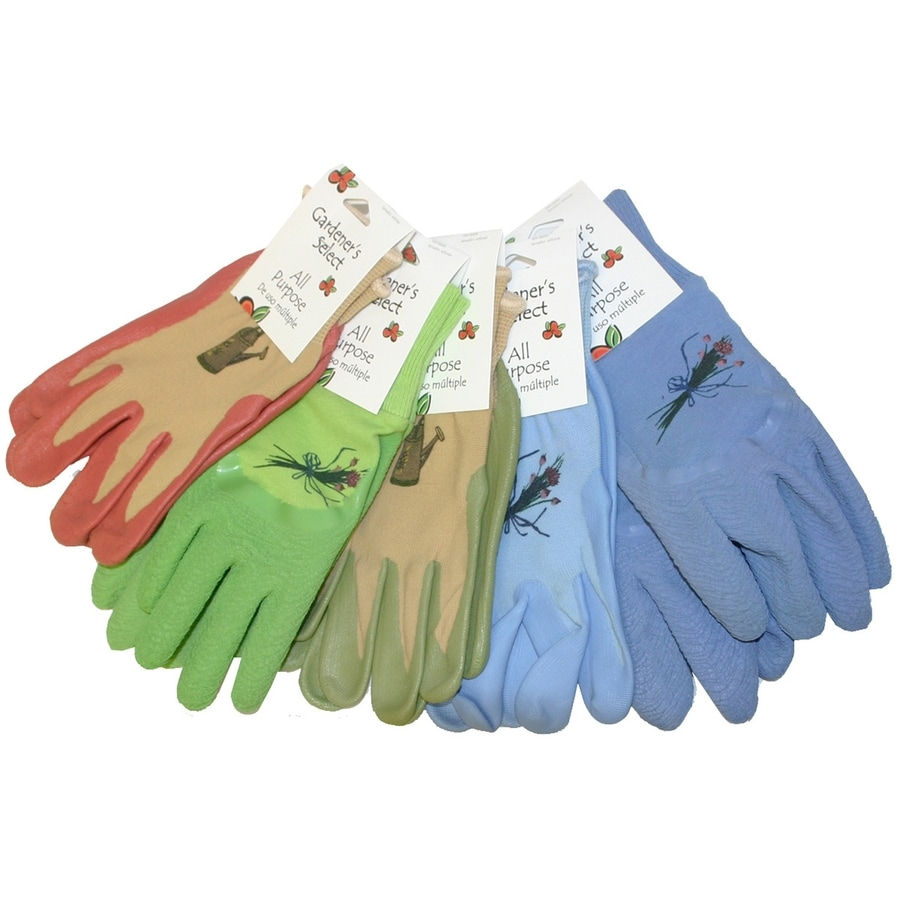 MidWest Quality Gloves, Inc. Womenu0027s Medium Multicolor Poly/Cotton Garden  Gloves