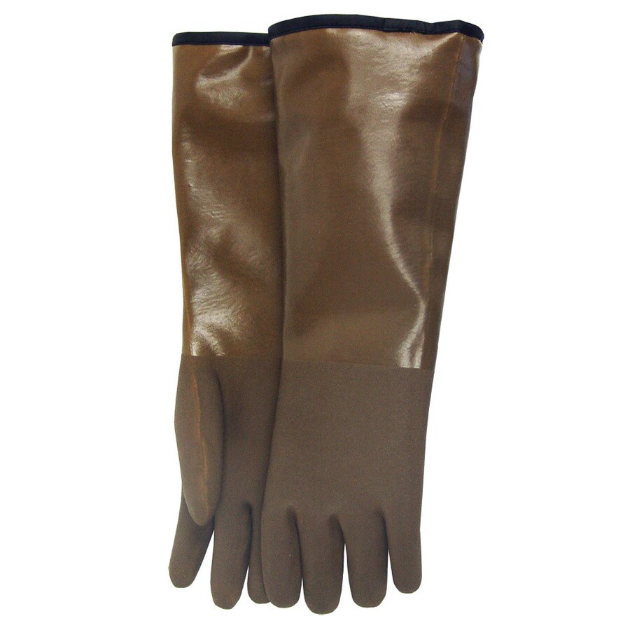 MidWest Quality Gloves, Inc. One-Size-Fits-All Unisex Brown Rubber Insulated Winter Gloves