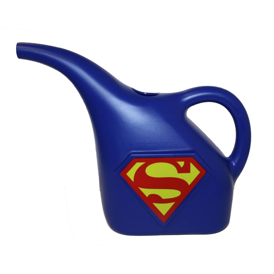 MidWest Quality Gloves, Inc. Superman 0.375-Gallon Blue Plastic Children's Watering Can