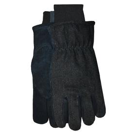 MidWest Quality Gloves, Inc. X-large Male Black Wool Leather Insulated Winter Gloves